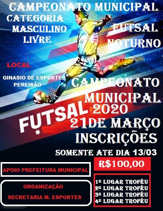 Campeonato de futsal municipal 2020