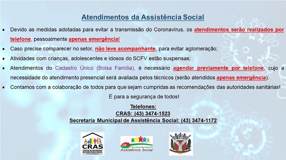 Atendimentos da Assistência Social